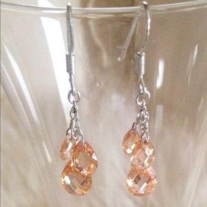 Jewelry - ✨HPx3!✨Champagne Sterling Silver Earrings